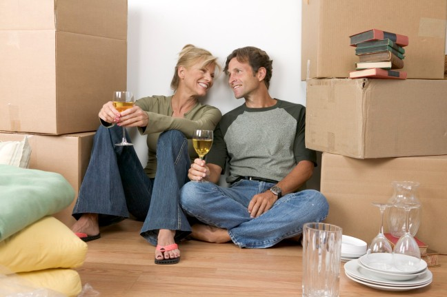 Couple Amidst Moving Boxes